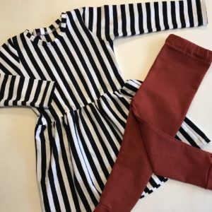 Peplum dress stripes