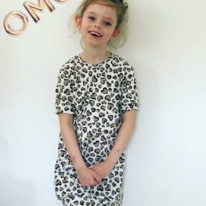 Sweaterdress leopard Hearts
